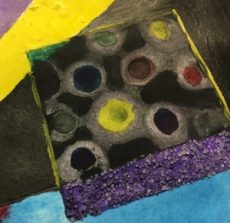 Non objective color wheel Watercolor painting