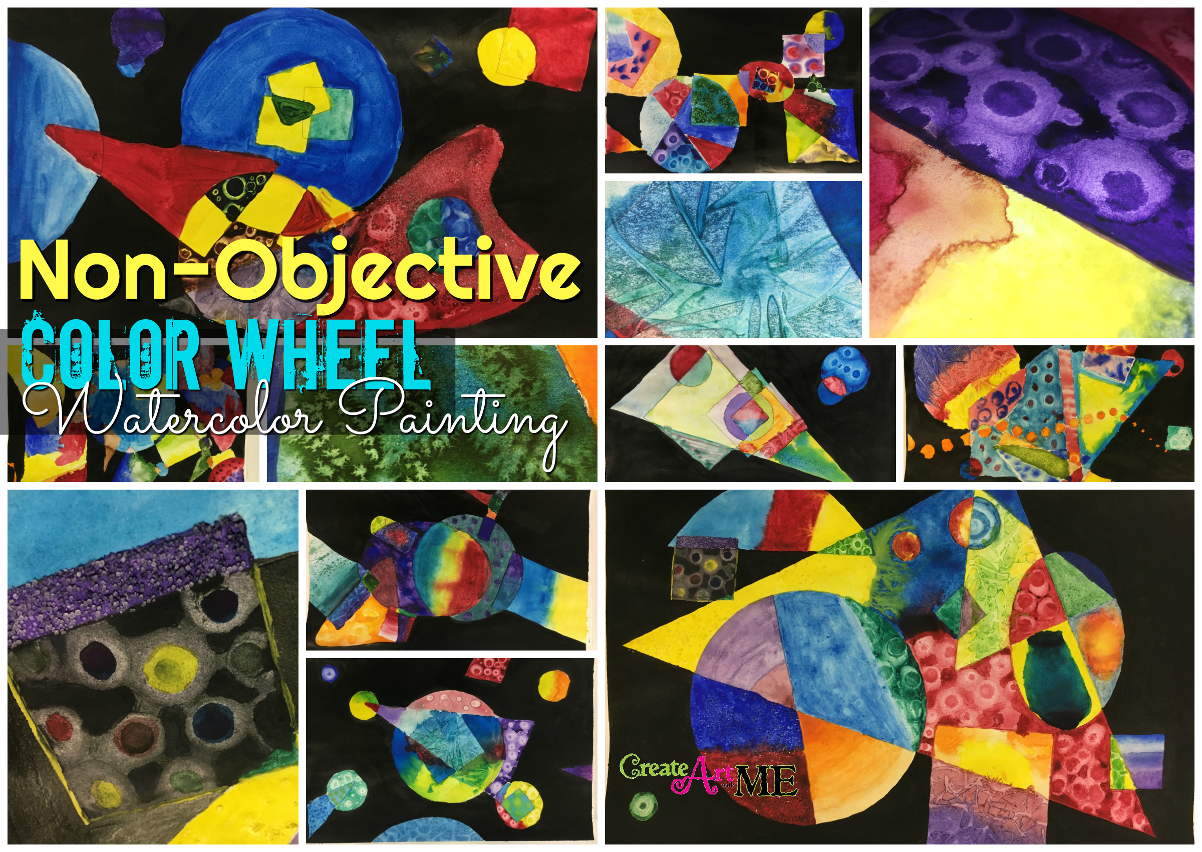 Non Objective Color Wheel Watercolor Lesson