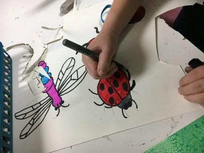 Bugs mixed media art lesson