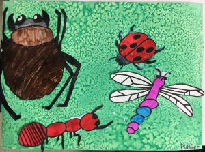 Bugs mixed media art lesson