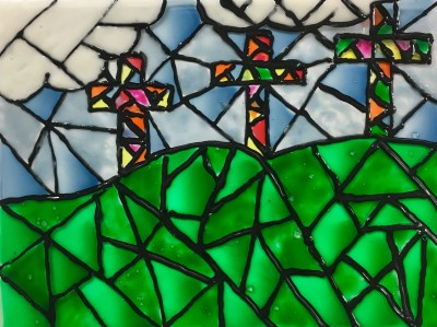 Faux Stained Glass Window