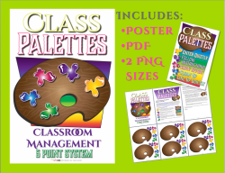 Art Classroom Management Palette System Poster