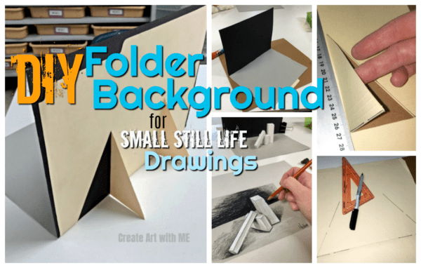 DIY Folder Background for Small Still Life Drawings