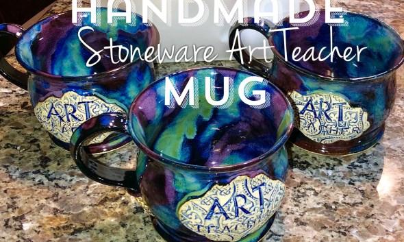 Art Teacher Mug Handmade Wheel-thrown stoneware