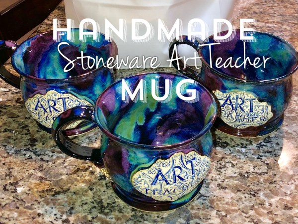 Art Teacher Mug Handmade Wheel-thrown stoneware