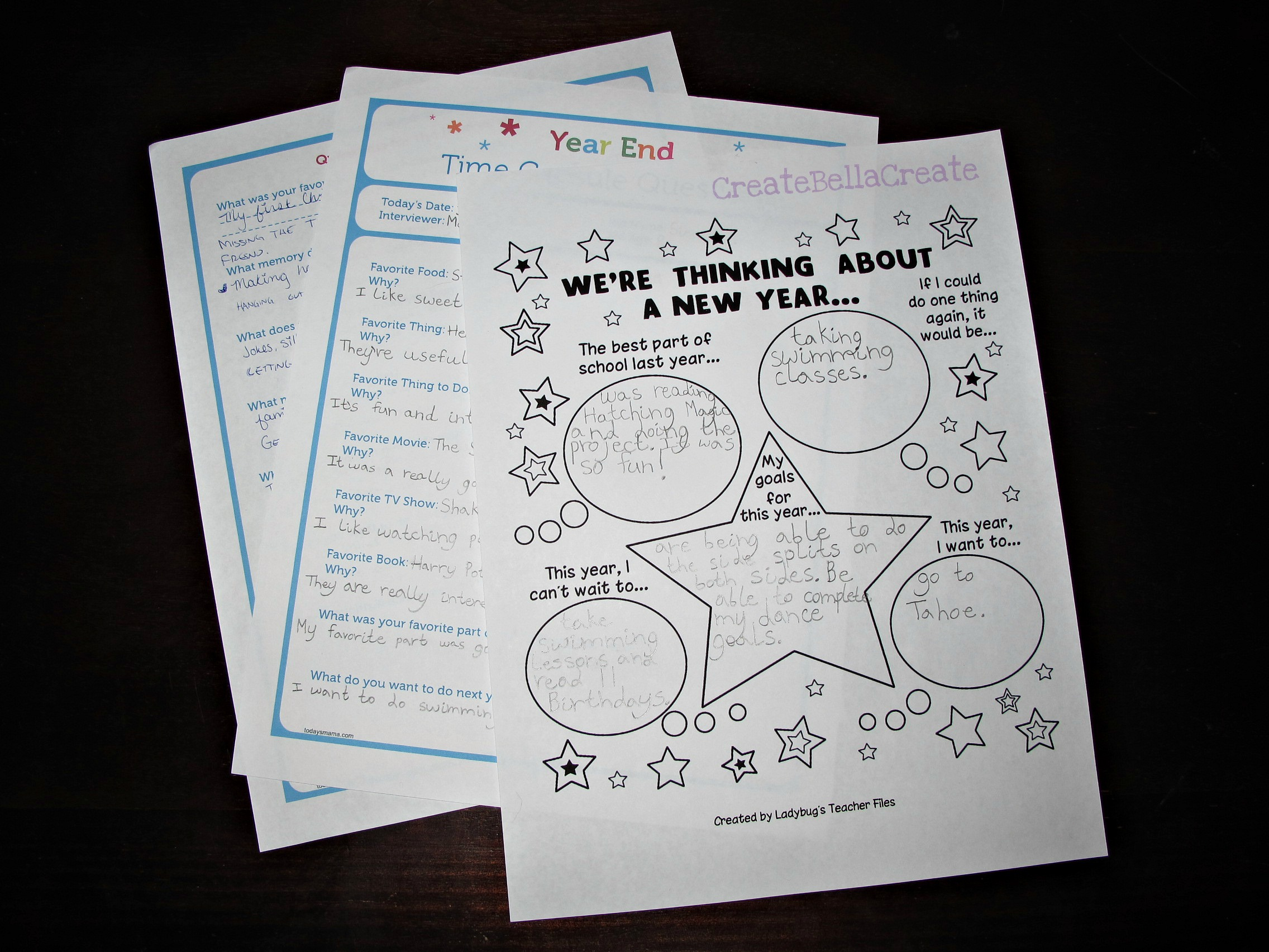 New Year S Worksheets For Kids Printables