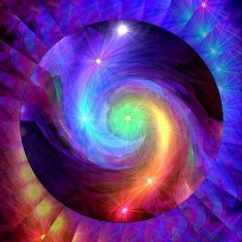 Swirling Blue-Purple