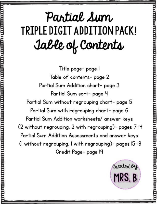 Partial Sums Addition Worksheets double digit addition tic tac toe – Partial Sums Addition Worksheets