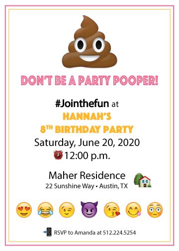 emoji birthday party invitation