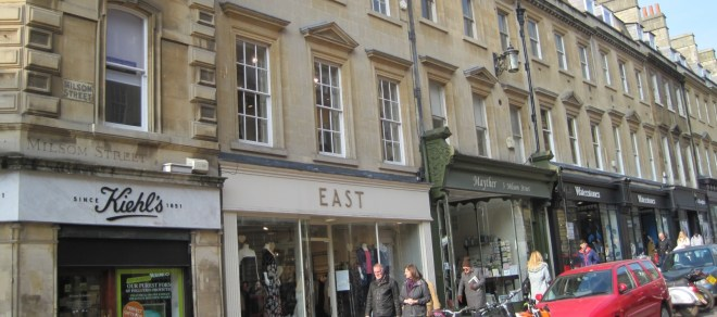 Milsom Street - Jane Austen mentions in Northanger Abbey