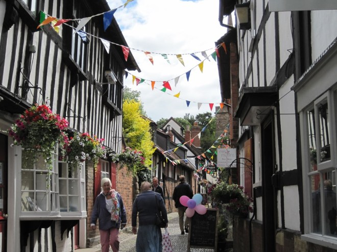 church lane at ledbury poetry festival