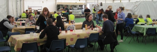 The stewards canteen tent