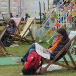 resting at hay festival
