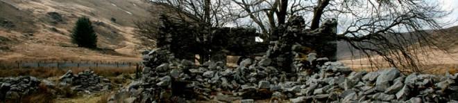 abandoned house on Pumlumon