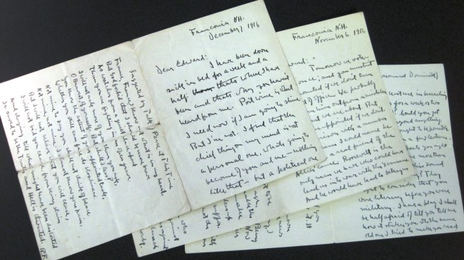 a letter from Robert Frost to Edward Thomas