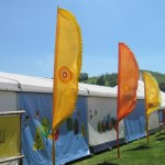 hay festival flags