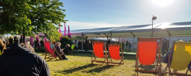 Hay Festival - A rare burst of evening sunshine