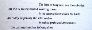 The Land or Body Tide - poem by Glyn Edwards