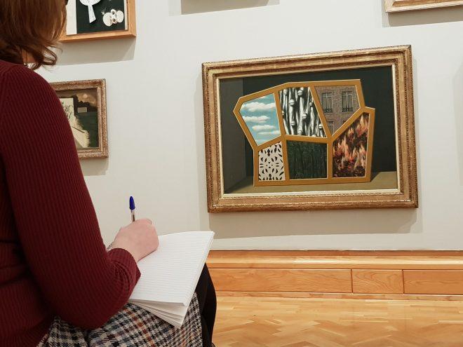 ekphrastic writing in a museum