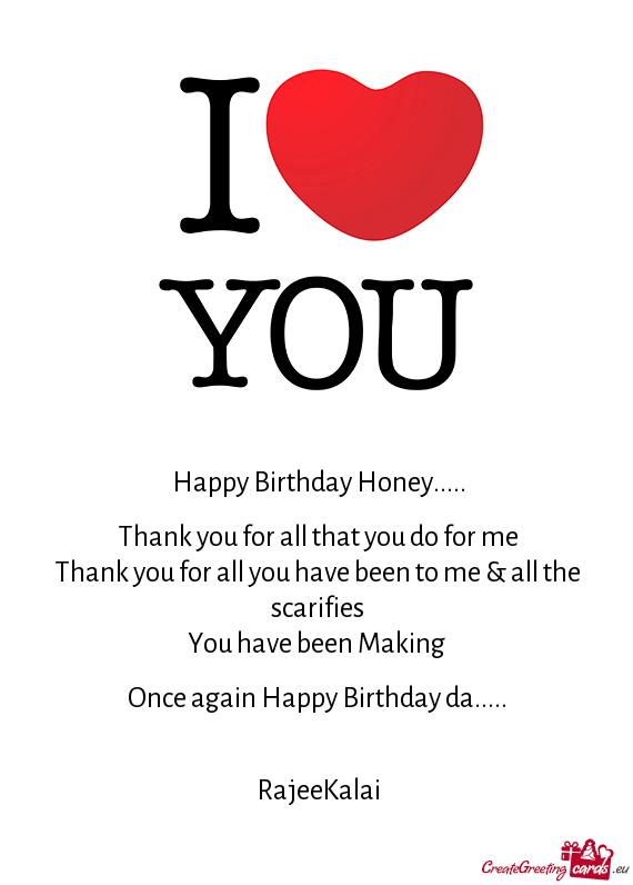 Happy Birthday Honey Free Cards