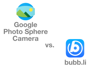 Google Photo Sphere vs. bubb.li