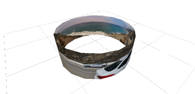 Cylinder with Panorama in HoloBuilder