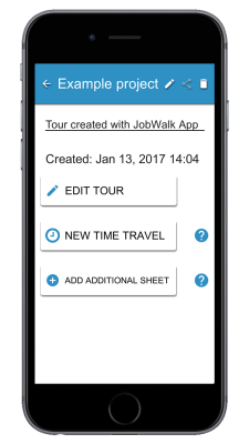 JobWalk app Multiple Sheets example project