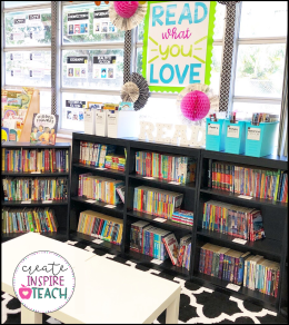 classroom library organization without bins