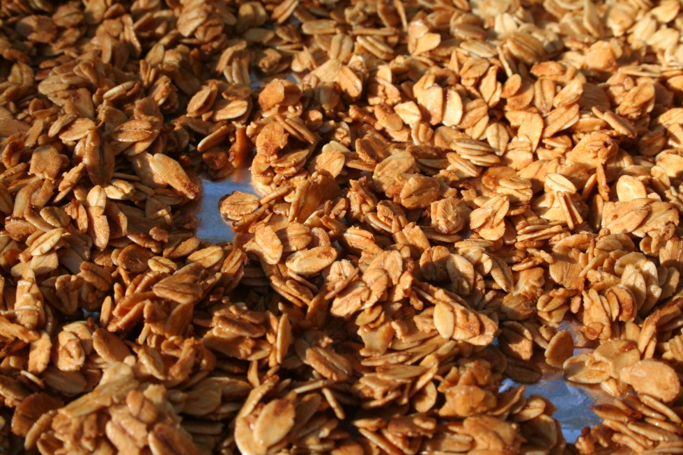 Vanilla Almond Granola (vegan, gluten free) - This easy granola is healthy and satisfying. Why buy store bought when you can make your own!