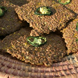 Spicy Flax Crackers