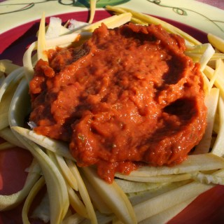 Squash Noodles with Roasted Tomato Sauce