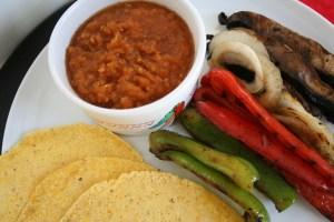 Portobello and Pepper Fajitas with Salsa
