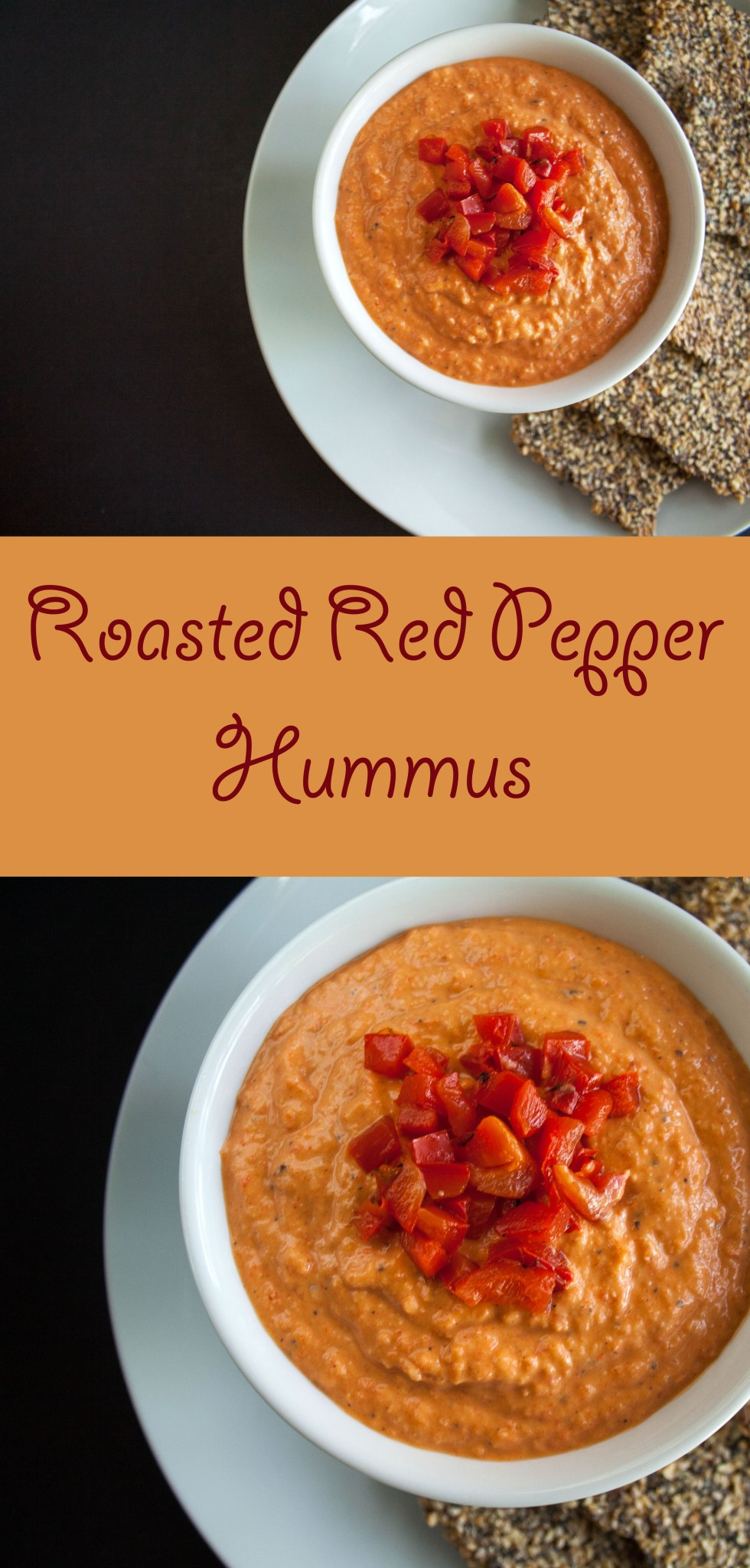 Roasted Red Pepper Hummus (vegan, gluten free) - This hummus is not only easy to make, but it is better than store bought, and costs a lot less.