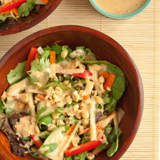 Thai Salad with Peanut Dressing