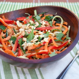 Cucumber and Carrot Noodles with Peanut Sauce