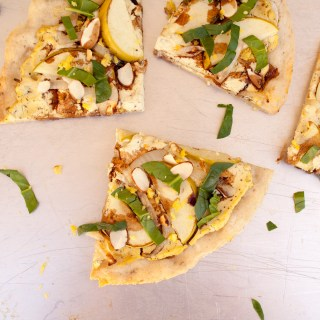 Apple and Tofu Ricotta Pizza
