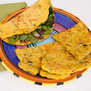 Chickpea Omelet Two Ways