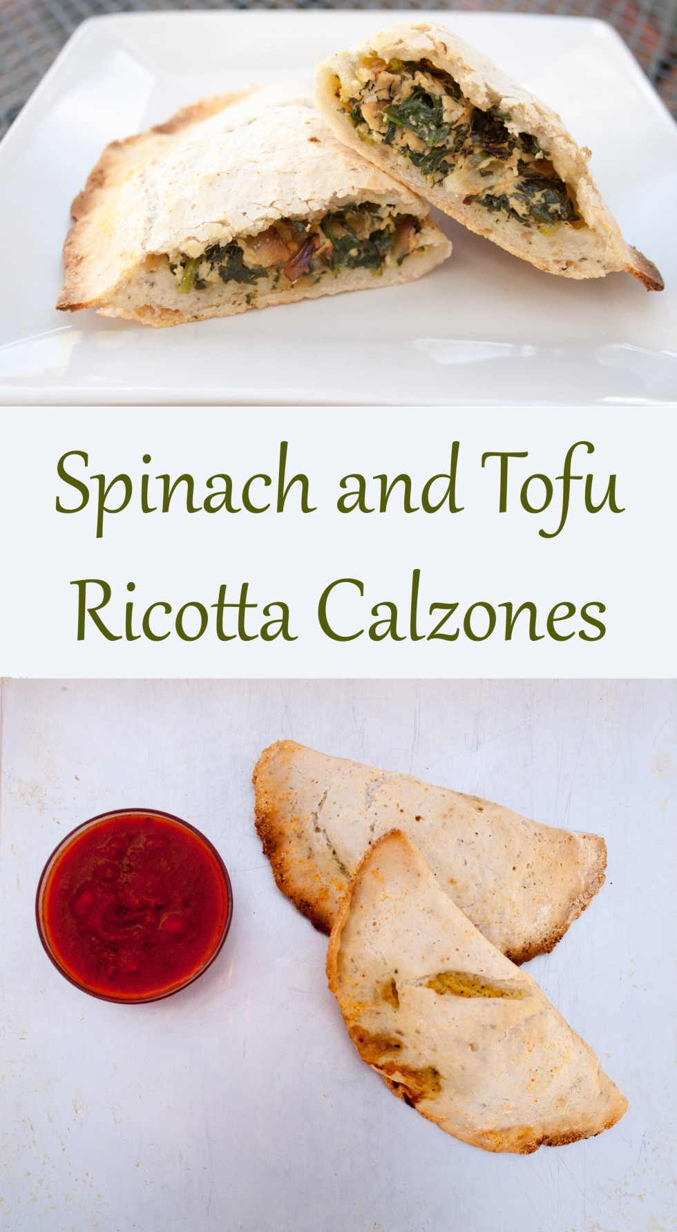 Spinach and Tofu Ricotta Calzones (vegan, gluten free) - Want to change up pizza night? This recipe for vegan calzones is the perfect choice!