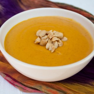 5 Ingredient Curry Peanut Pumpkin Soup
