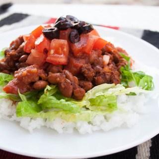 Vegan Taco Rice (Takoraisu)