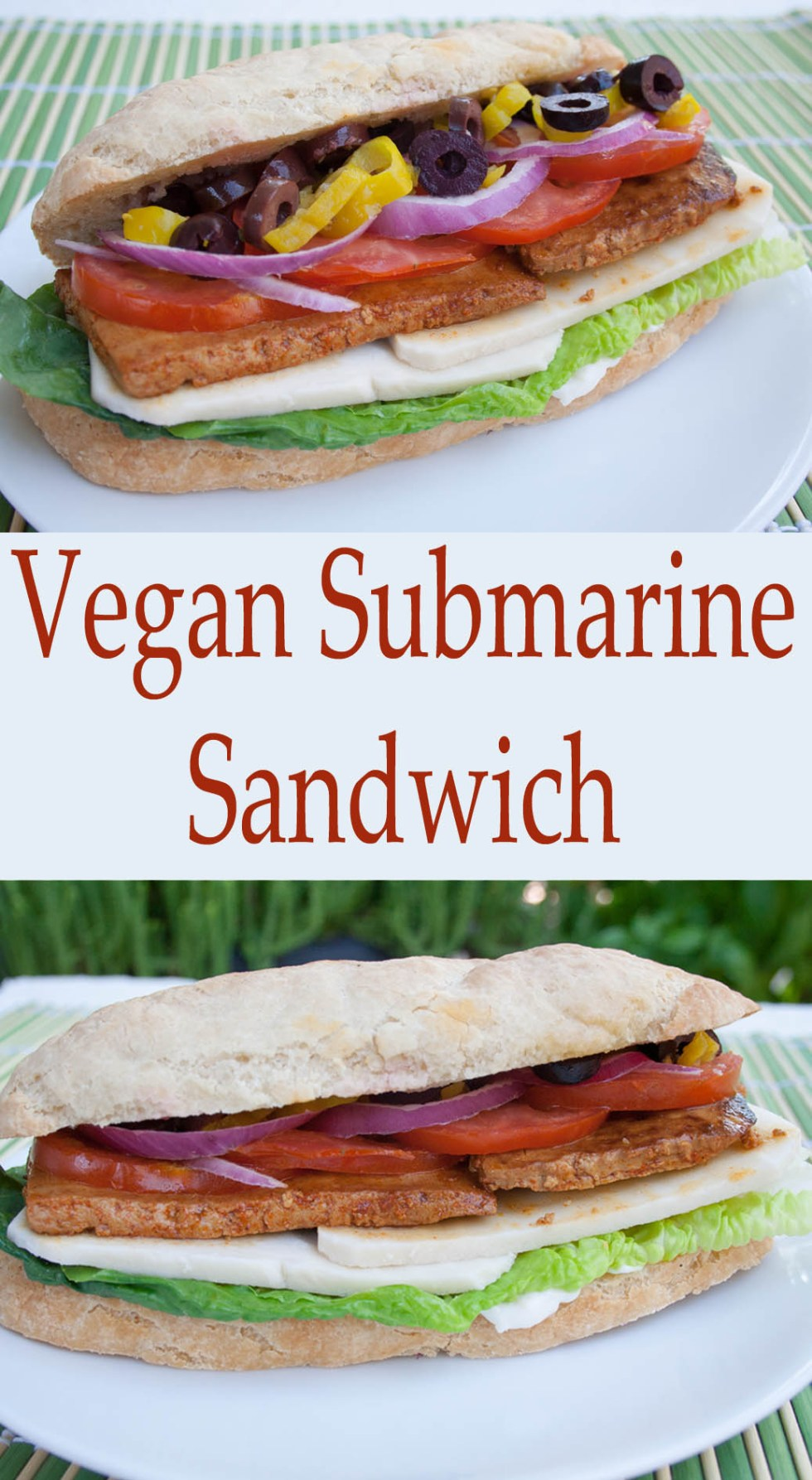 Vegan Submarine Sandwich (gluten free) - This smoky, savory sub will hit the spot when you are craving a hearty sandwich!