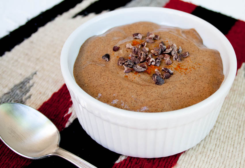 Mexican Chocolate Chia Pudding close up