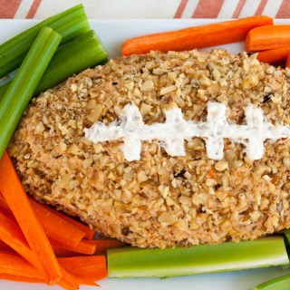 Vegan Pizza Football Cheese Ball