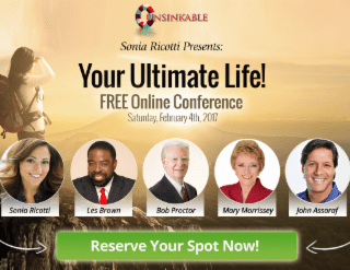 Sonia Ricotti, Les Brown, Bob Proctor…and YOU!