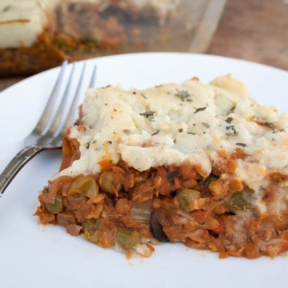 Lentil and Mushroom Shepherd's Pie with Mashed Cauliflower
