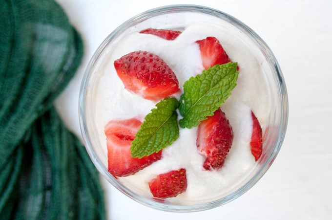 Strawberries and Coconut Cream