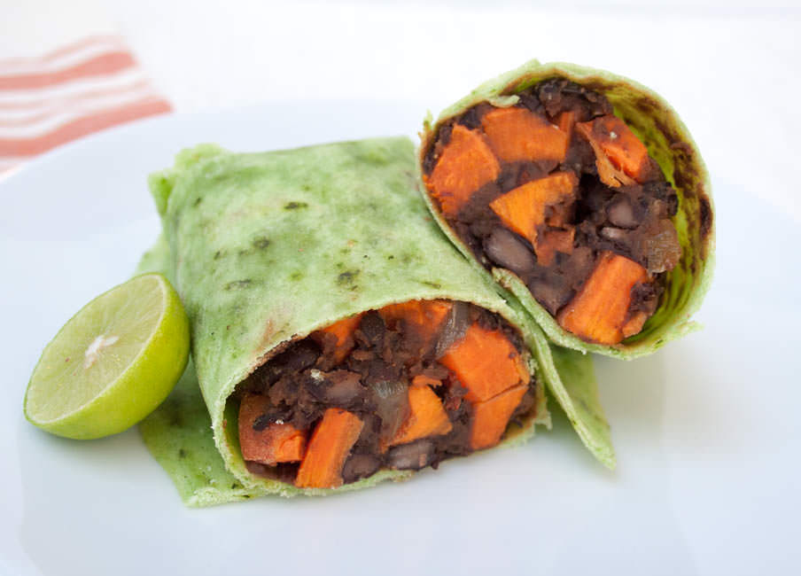 Sweet Potato and Maple Chipotle Black Bean Burritos ...