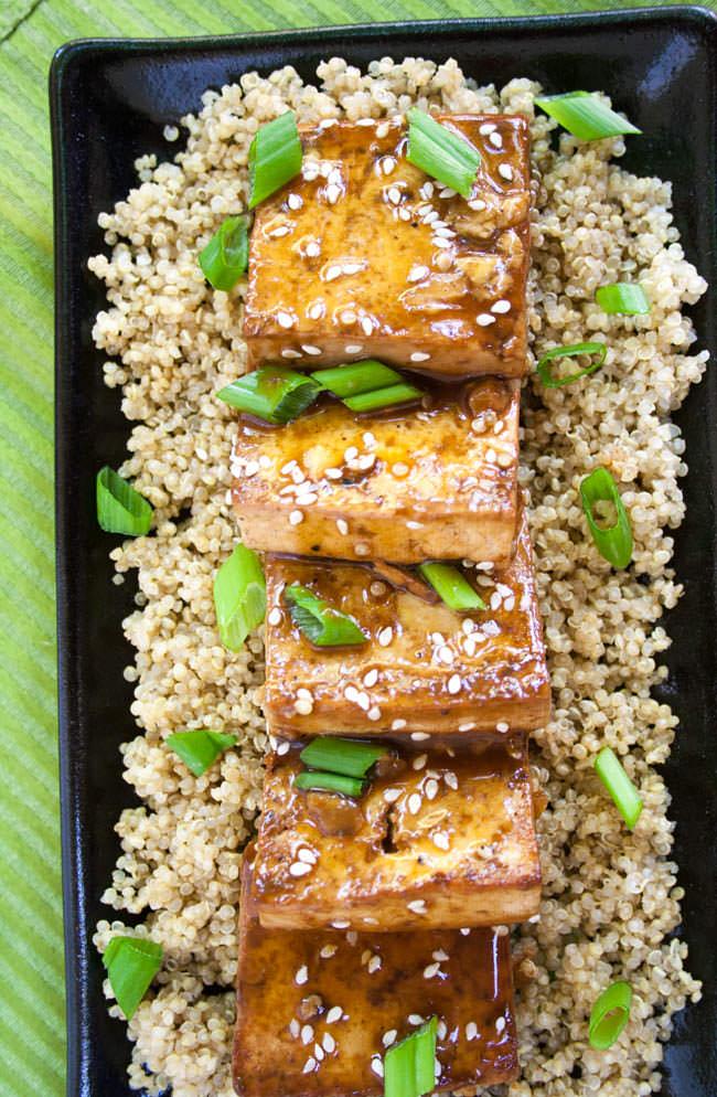 Ginger Hoisin Tofu birds eye view