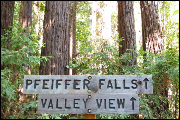Big Sur Hiking Signs