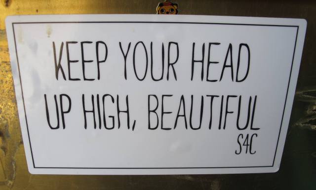 'Keep Your Head Up High, Beautiful 'sticker